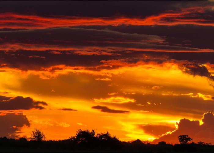 visit Botswana  sunset