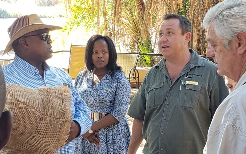 President & 1st Lady at Chobe Safari Lodge