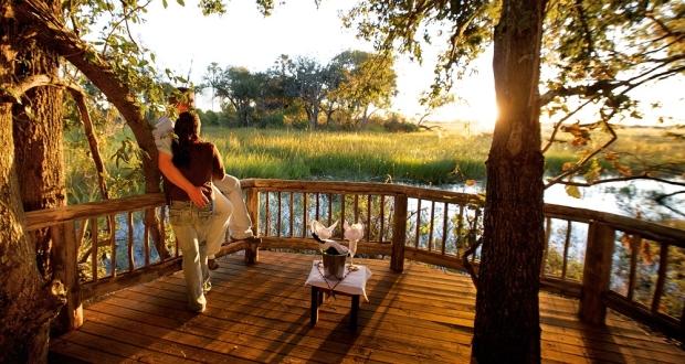 Under One Botswana Sky, Okavango Delta, Gunns Camp, Chiefs Island, Safari Honeymoon, Romantic Breaks