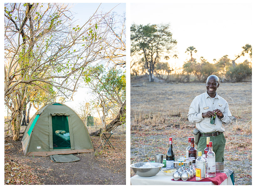 Camping in the Okavango Delta